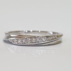 Jewelry - 18K White Gold CZ Band Ring